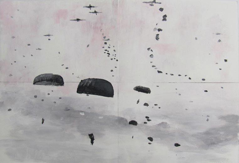 Strange Enemies II, 2011, acrylic on paper, 34x24 cm