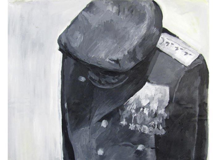 Uniform, 2011, acrylic on canvas, 68 x 57 cm