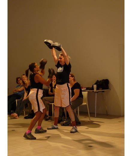 5  showing Cullinan Richards boxing workshop  Charlotte Cullinan on right Wide Open School Hayward GAllery