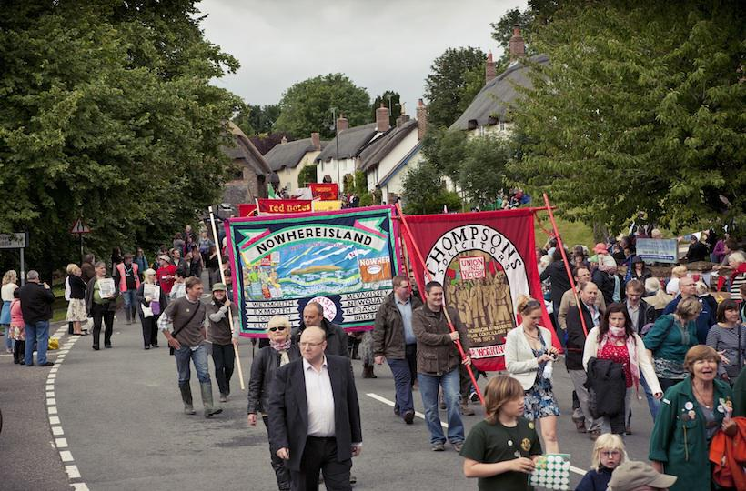 12 Nowhereisland joins Tolpuddle Martyrs march 2012 Photo Max McClure