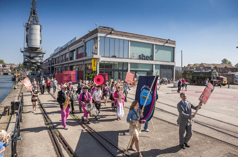 22 Citizen March for Nowhereisland through Briistol Photo Max McClure