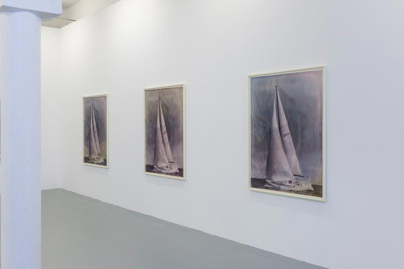 Installation image of Paul Sietsema, Calendar Boats, Drawing Room at Tannery Arts, Bermondsey, photographer Dave Morgan
