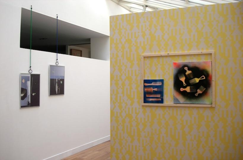 asy Living Less is More Projects Paris Installation view works by Owen Piper and Nick Evans (right) James Clarkson (left) 1