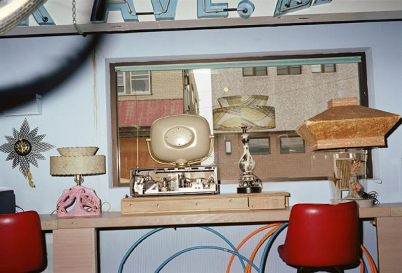 WE64 UNTITLED (ROOM WITH OLD TV, LAMPS, WILDWOOD, NEW JERSEY) 2002