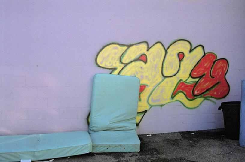 coverWE72 UNTITLED (CUSHION, PURPLE WALL, GRAFFITI, MEMPHIS) 2007