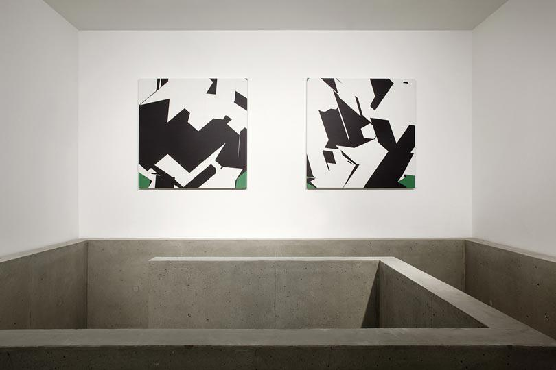 Manfred Mohr one and zero installation view 4