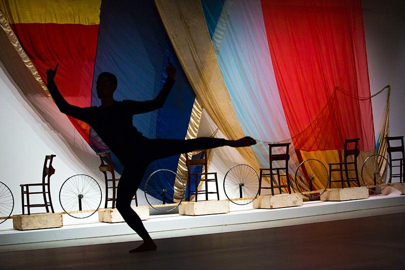 1 Dancers perform Merce Cunningham choreography in the exhibition Photo Felix Clay 2013