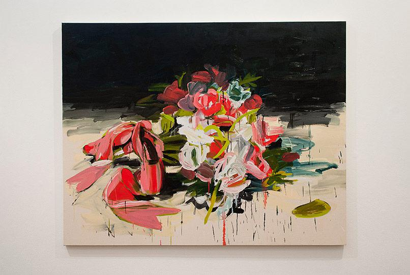 Susan Sluglett, Decoy, Oil and charcoal on canvas, 2013 Photo thisistomorrow.info