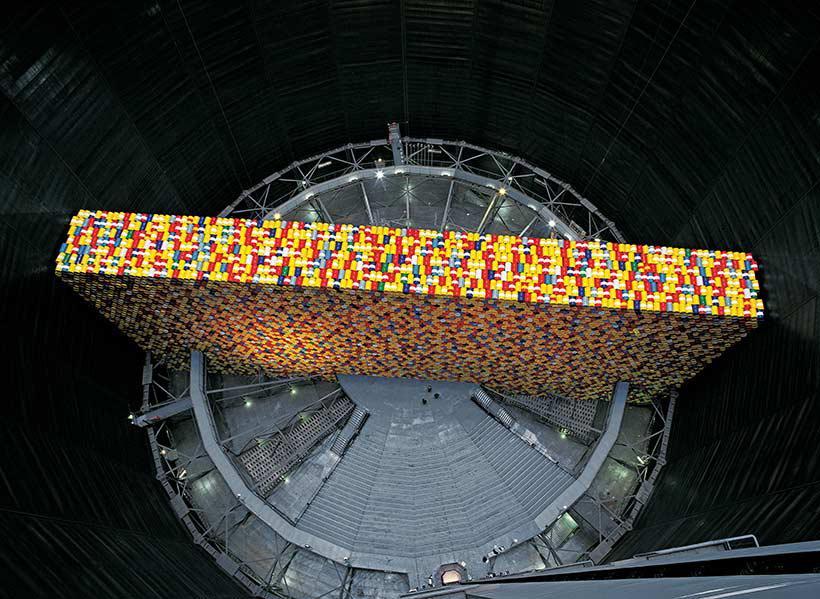 Big Air Package  The Wall  13,000 Oil Barrels, Gasometer Oberhausen, Germany, 1998 99