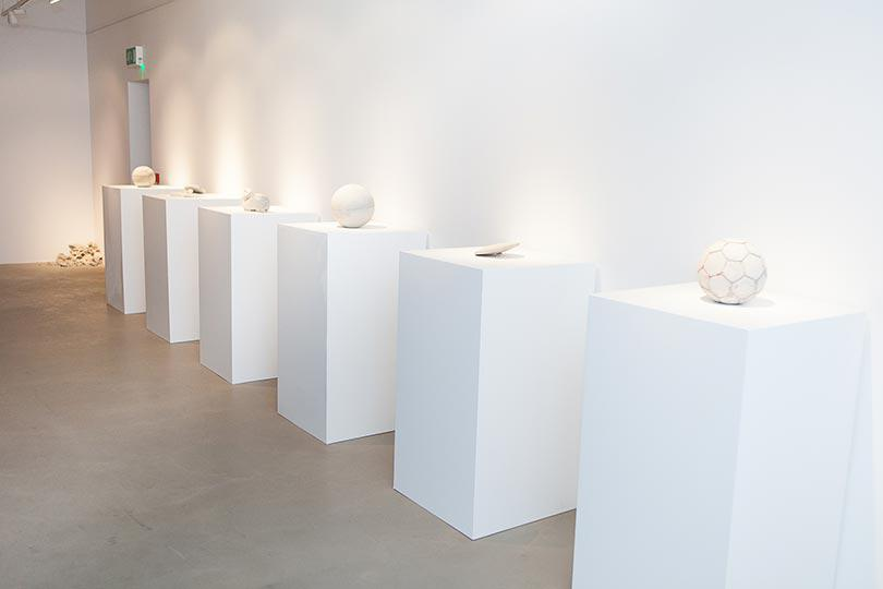 Installation view, Khaled Jarrar, Whole in the Wall, Ayyam Gallery London, 2013, Courtesy the artist and Ayyam Gallery, Photo Susanne Hakuba (15)