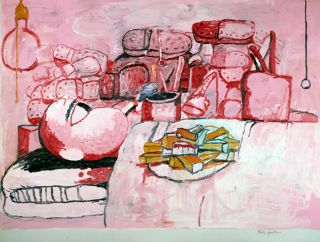 Schirn Presse Guston Painting Smoking Eating 1973