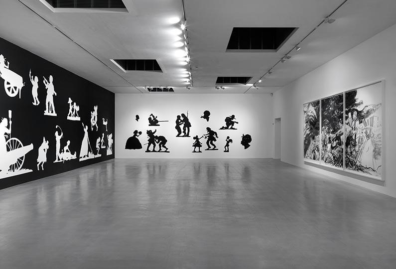 Kara Walker installation shot from Camden Arts Centre Photo credit Marcus Leith