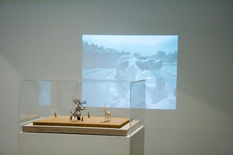 MarkAerielWaller White Stag, installation image WysingArtsCentre b