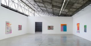 Eddie Peake Caustic Community (Masks And Mirrors) White Cube Sao Paulo 20 November 2013  8 February 2014 (medium res)