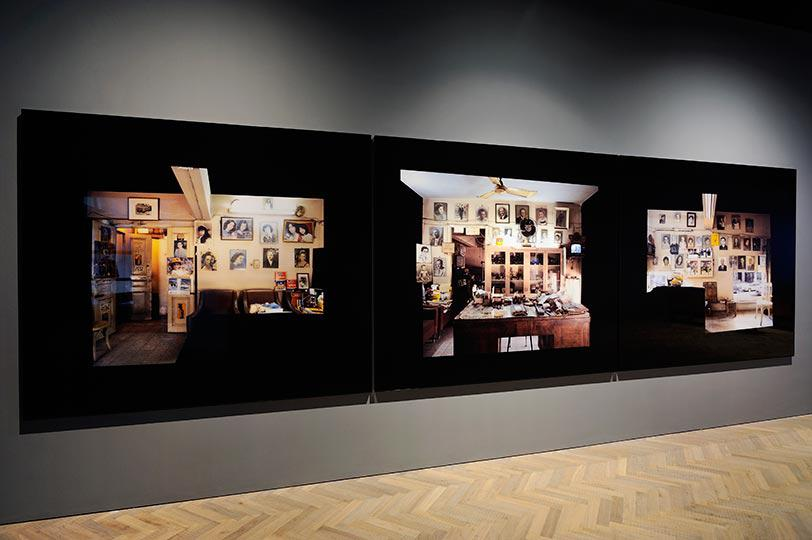 Akram Zaatari, On Photography People and Modern Times, Installation shots, credit Thierry Bal and courtesy Thomas Dane Gallery, 2
