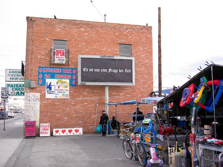 Felix Gonzalez Torres billboard ELPASO Paisano Mesa