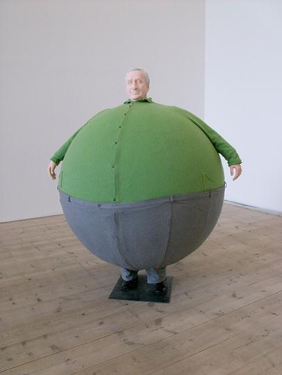 E Wurm, The Artist Who Swallowed the World, 2006, mixed media sculpture, 190 x 140 x 140 cm