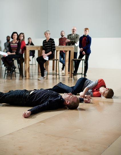 Table of Contents, by Siobhan Davies Dance, performers Charlie Morrissey Helka Kaski, photo Pari Naderi
