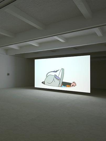 Jordan Wolfson at Chisenhale Gallery Photo Andy Keate 03