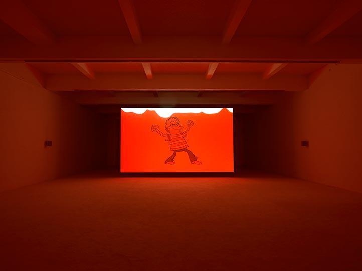 Jordan Wolfson at Chisenhale Gallery Photo Andy Keate 04