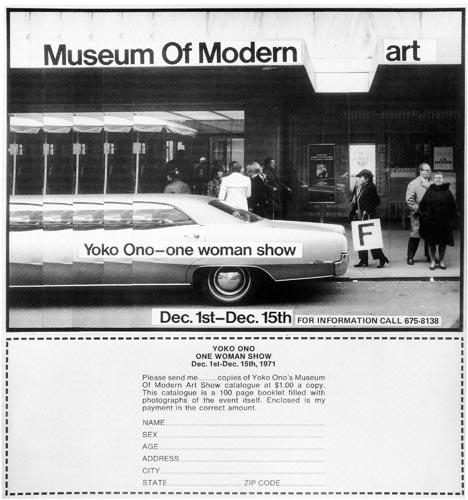 Advertisement for Museum of Modern (F) Art, 1971 - Published in Village Voice, December 2, 1971 - Private collection - © Yoko Ono