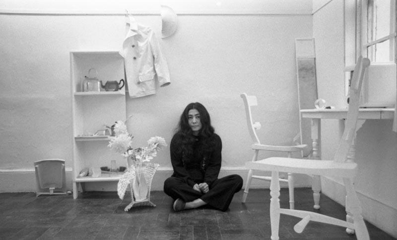 Yoko Ono in Half-A-Room, Lisson Gallery, London, 1967 Photo by Clay Perry © Yoko Ono