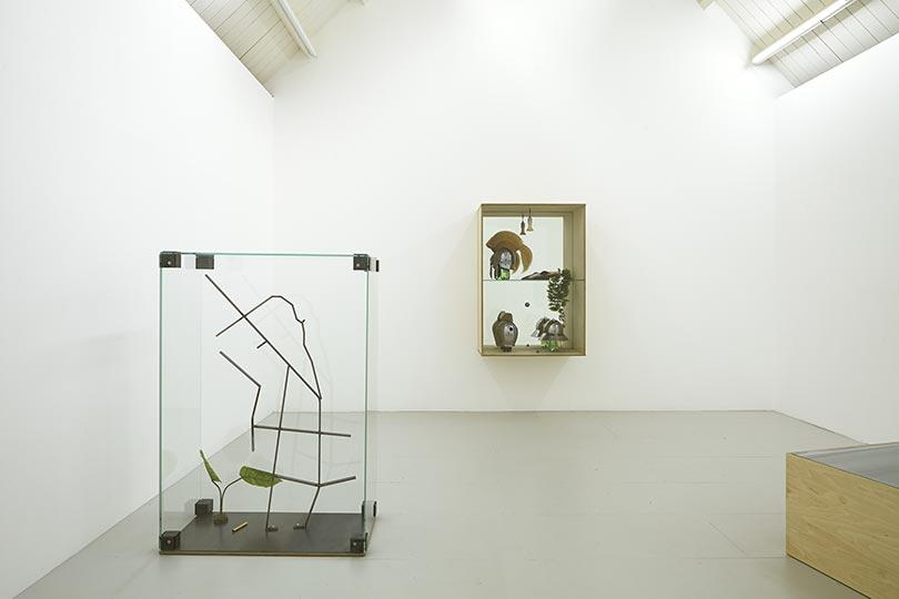 Installation view, George Henry Longly, Hair Care at Jonathan Viner, London (2014)