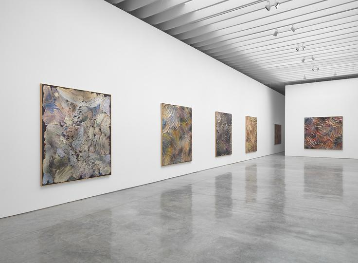 Installation view of Jules Olitski: Mitt Paintings