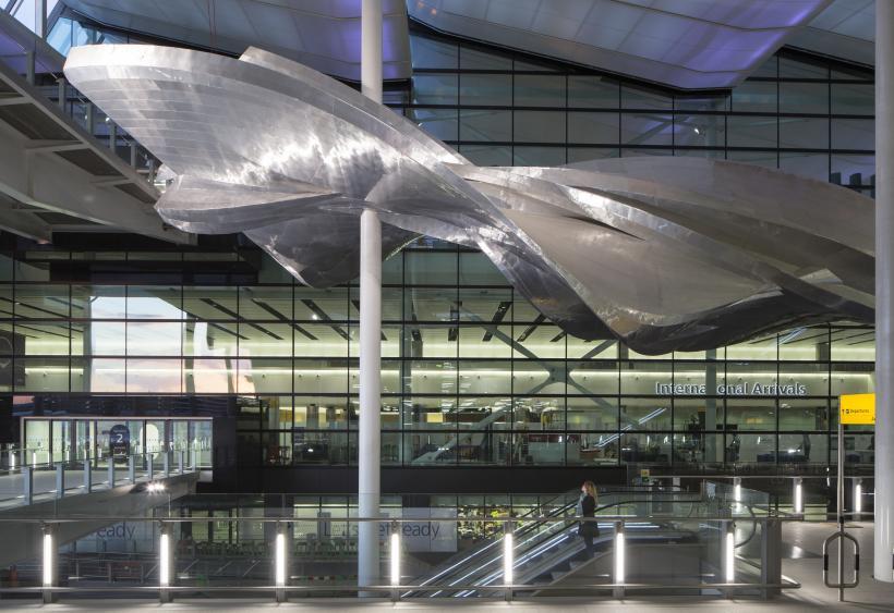 Slipstream by richard wilson at heathrows new terminal 2 the queens terminal. photograher david levene