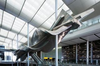 Slipstream by richard wilson at heathrows new terminal 2 the queens terminal. photograher david levene