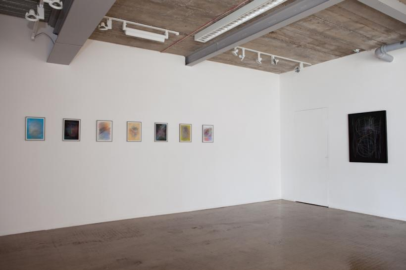 Untitled 1-7 and Come Down, Installation view at Platform A