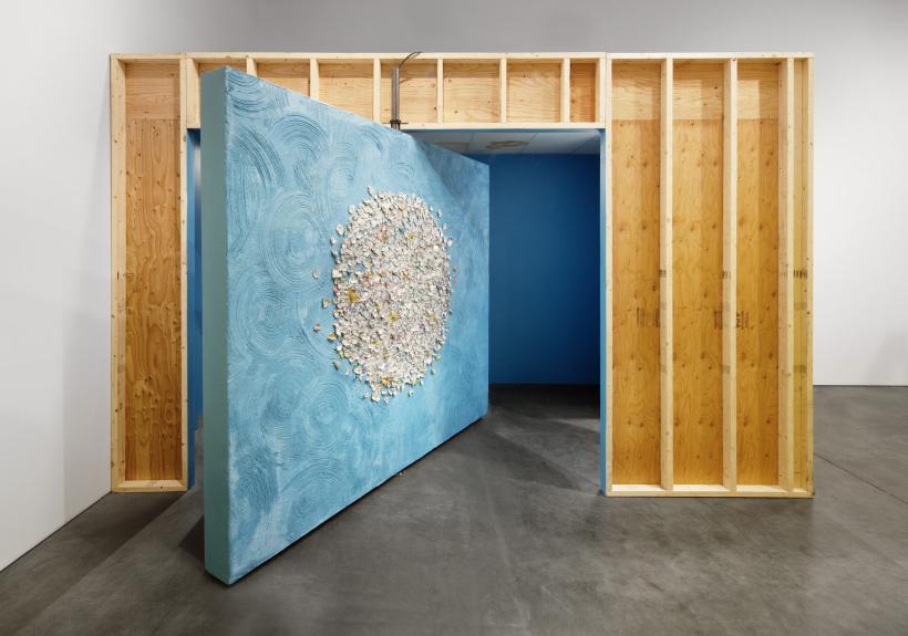 Installation view of Mika Rottenberg: Bowls Balls Souls Holes