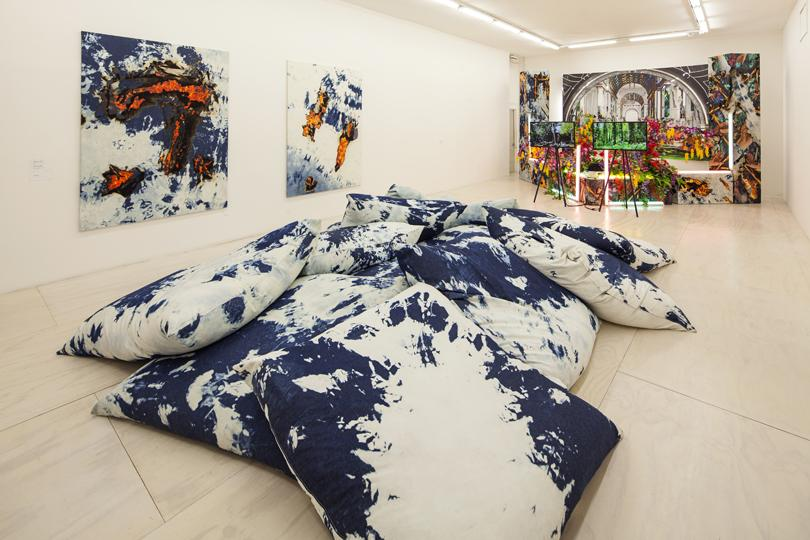 Installation view of Korakrit Arunanondchai at MoMA PS1, 2014. © 2014 MoMA PS1; Photo Matthew Septimus
