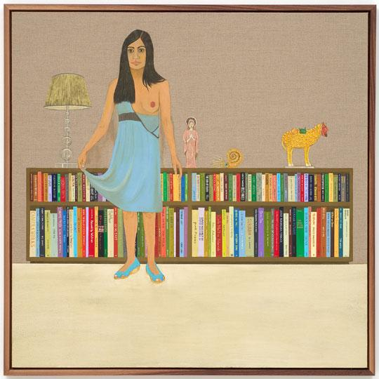 007.ed templeton Portrait of Deanna (Books) Acrylic on Canvas, 2008 4x4 ft.