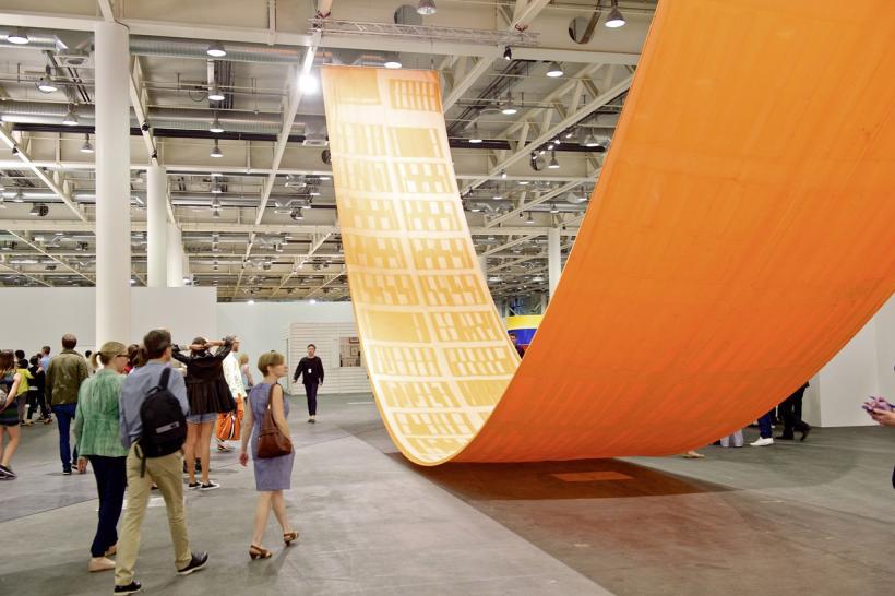 Sam Falls Art Basel in Basel 2014 | Unlimited | Sam Falls | Galerie Eva Presenhuber MCH Messe Schweiz (Basel) AG