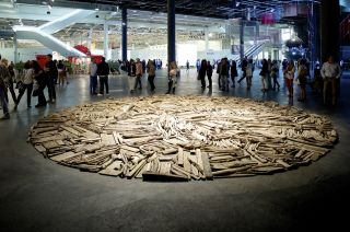 Richard Long Art Basel in Basel 2014 | Unlimited | Richard Long | Lisson Gallery MCH Messe Schweiz (Basel) AG