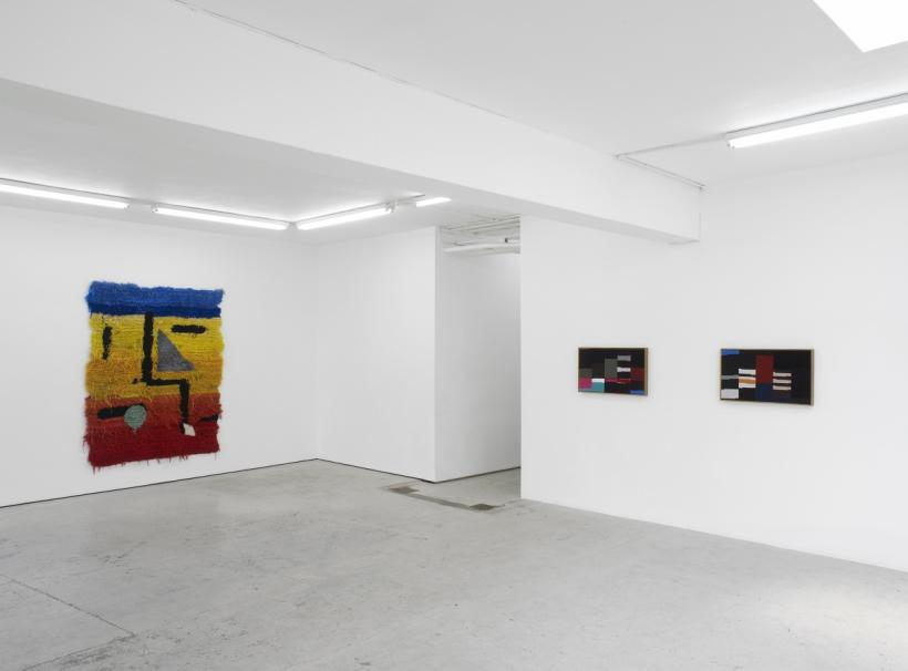 Accordion installation view Laura Bartlett Gallery, London 2014
