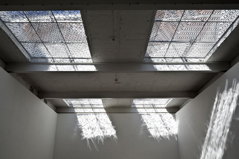 Richard Wright  No Title 2014 Handmade leaded glass  Installation view The Modern Institute, Glasgow, 2014 Photo: Keith Hunter