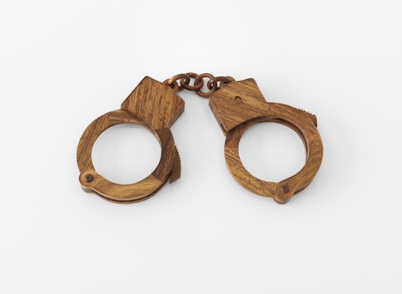Ai Weiwei  Handcuffs, 2012  Huali wood  Courtesy the artist and Lisson Gallery