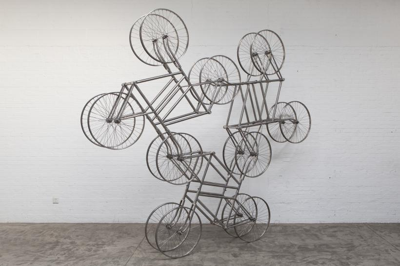 Weiwei Ai Forever, 2013 Stainless steel bicycles in Silvery Courtesy the artist and Lisson Gallery