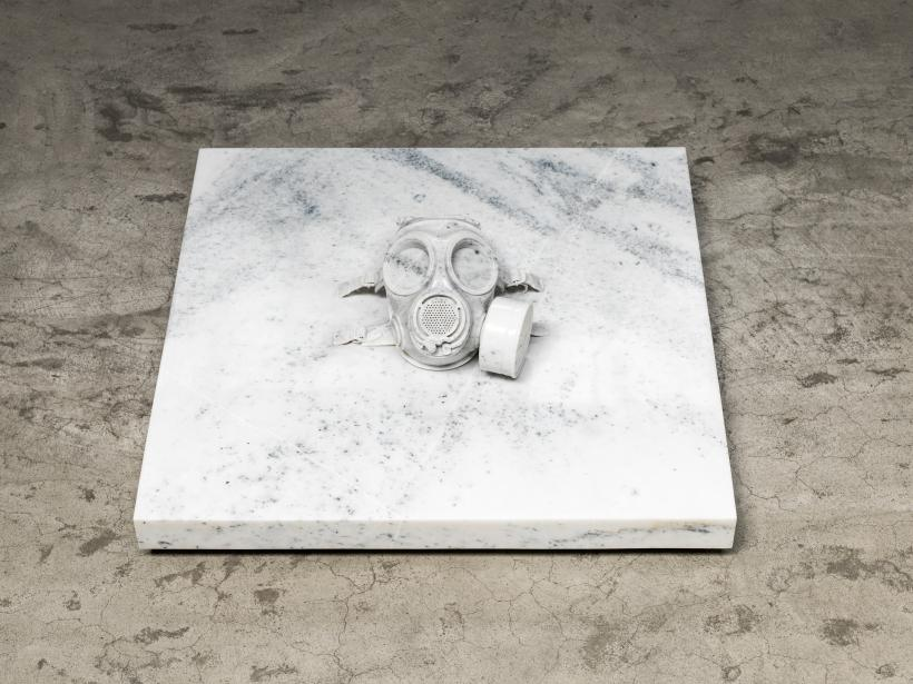 Weiwei Ai Mask, 2013 Marble Courtesy the artist and Lisson Gallery