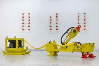Hydraulic Power Pack Sledge, A Strong Affinity, Installation view at Hannah Barry (2014)