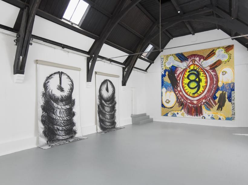 Judith Bernstein 'Rising' 2014. A Studio Voltaire Commission, courtesy of the artist and The Box, Los Angeles. Photo: Andy Keate