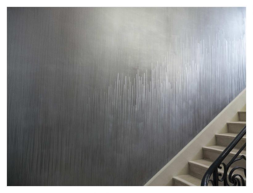 Fritz Hauser, Schraffur für Arles Treppe im Regen (detail), (2014)