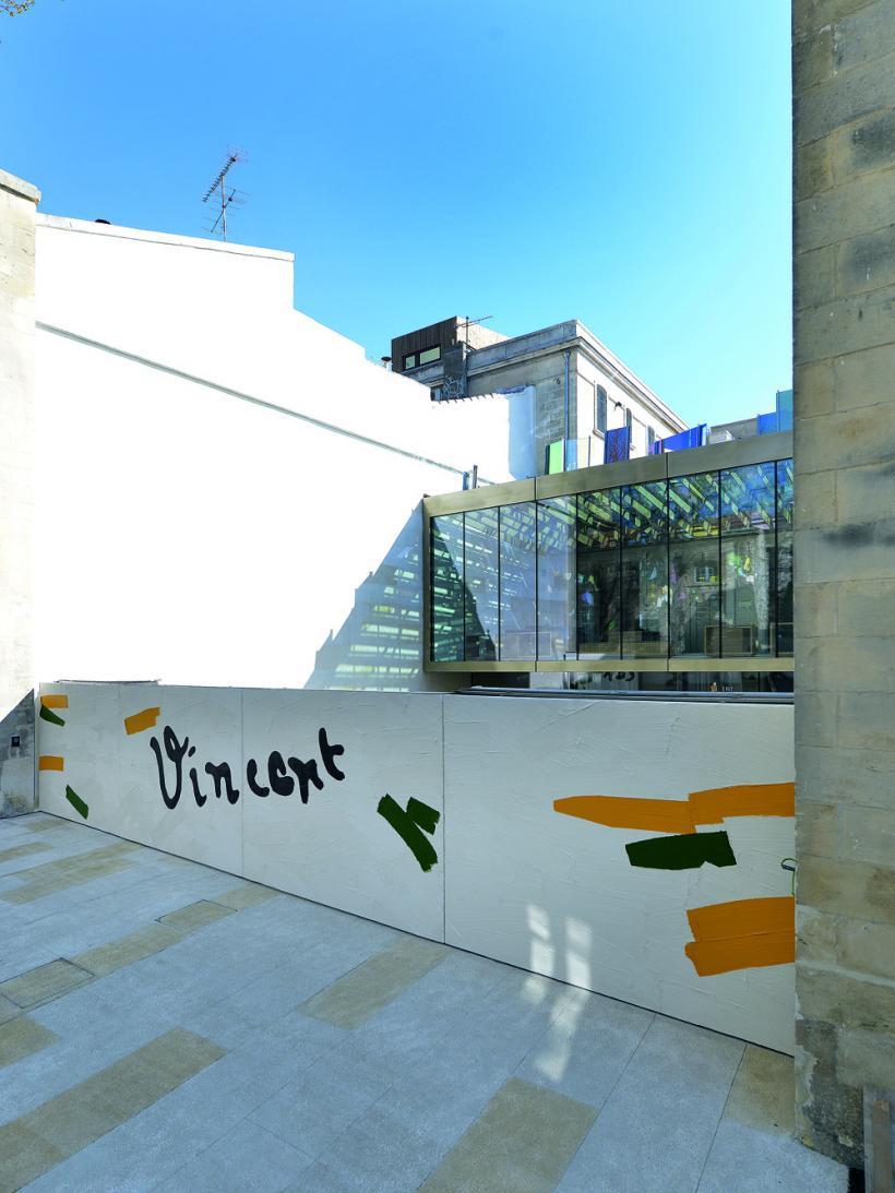 Bertrand Lavier, Portal Vincent, view from the rue du Docteur Fanton (2014)