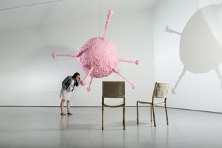 Franz West, 'Epiphanias an Stühlen', (2011),  Installation view, 'Franz West: Where is my Eight?', at The Hepworth Wakefield (2014)