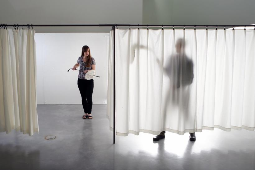 Franz West, 'Passtücke mit Box und Video (Adaptives with Box and Video)' (1996), Installation view, 'Franz West: Where is my Eight?', at The Hepworth Wakefield (2014)