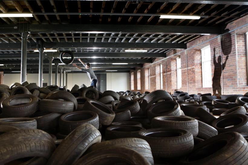 'Allan Kaprow: YARD (1961/2014)', installation view at The Calder, The Hepworth Wakefield's new contemporary art space (2014)