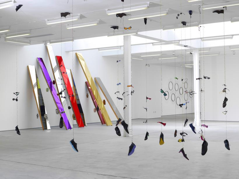 Installation view, Jim Lambie: Answer Machine