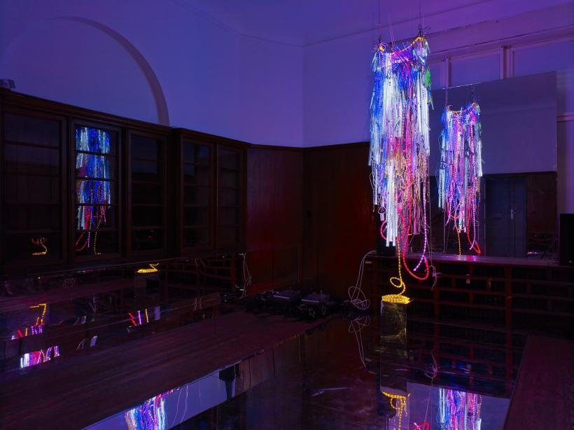 Installation view, Wu Tsang: A day in the life of bliss